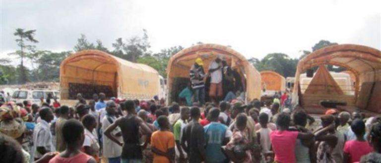 Article : 140 réfugiés ivoiriens font leur retour dans leur pays en provenance de Guinée